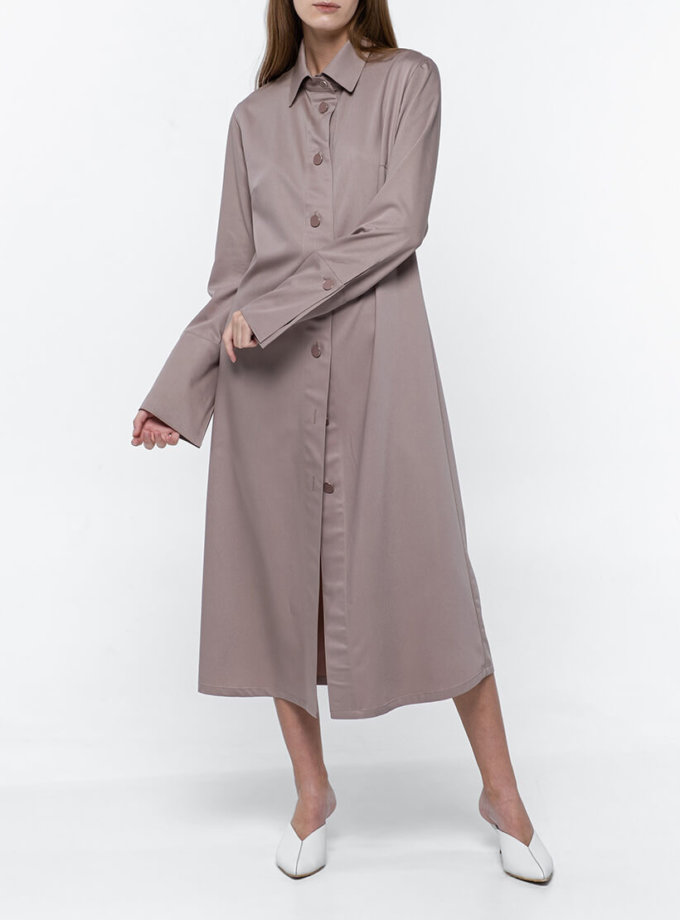 Платье-рубашка из хлопка NM_382, фото 1 - в интеренет магазине KAPSULA