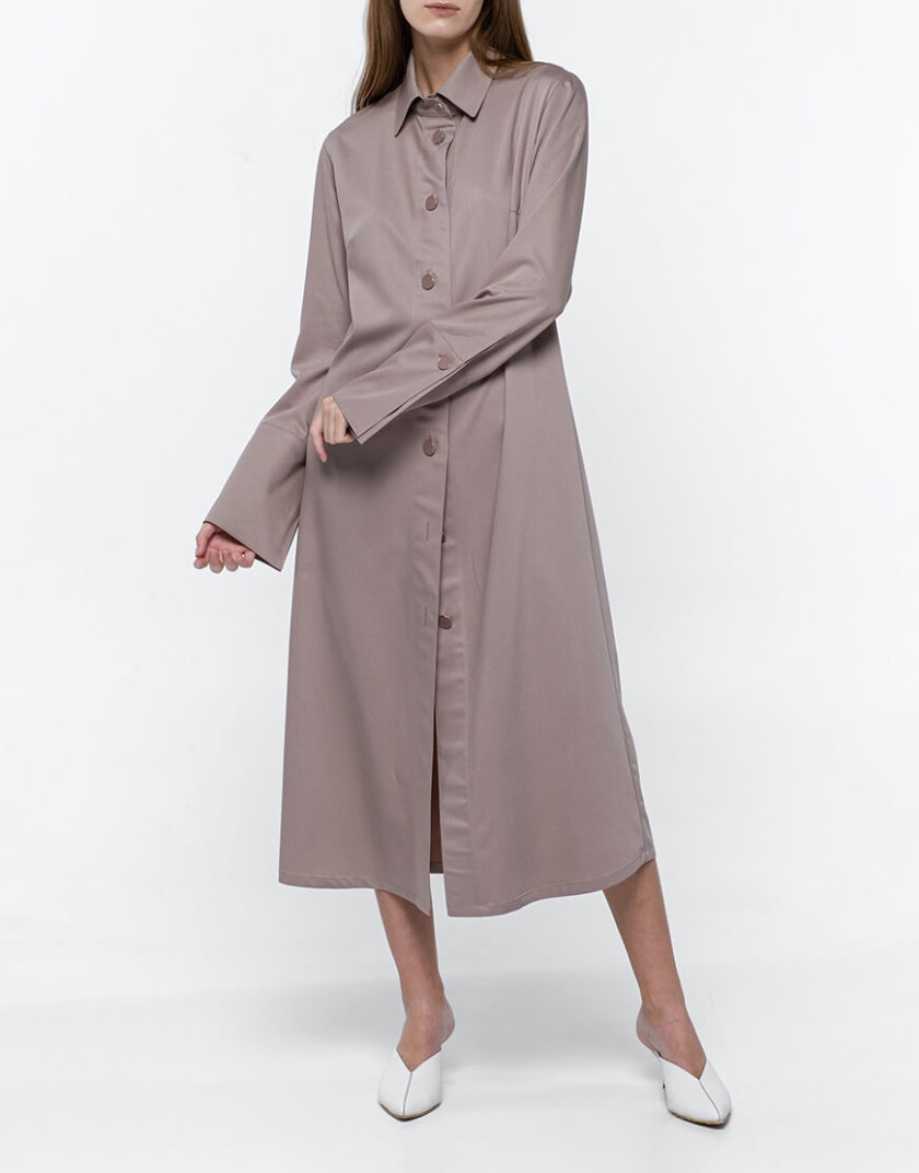 Платье-рубашка из хлопка NM_382, фото 1 - в интернет магазине KAPSULA