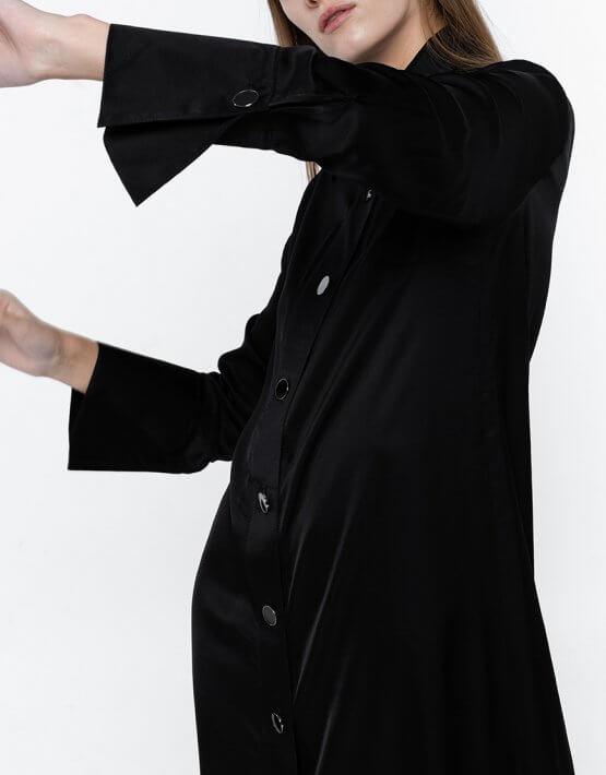 Платье-рубашка из хлопка NM_383, фото 3 - в интеренет магазине KAPSULA