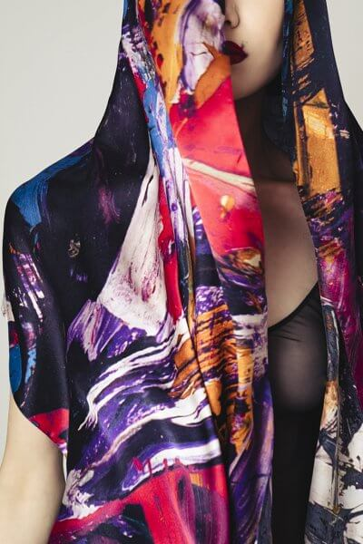 Шелковый палантин OLZ_AK4, фото 1 - в интеренет магазине KAPSULA