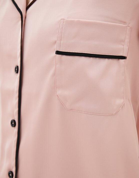 Пижамный комплект с брюками BAS_PS_MhB-12, фото 4 - в интеренет магазине KAPSULA