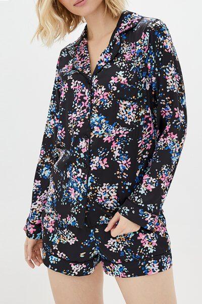 Пижама с шортами на резинке BAS_PS_PrG-21, фото 1 - в интеренет магазине KAPSULA
