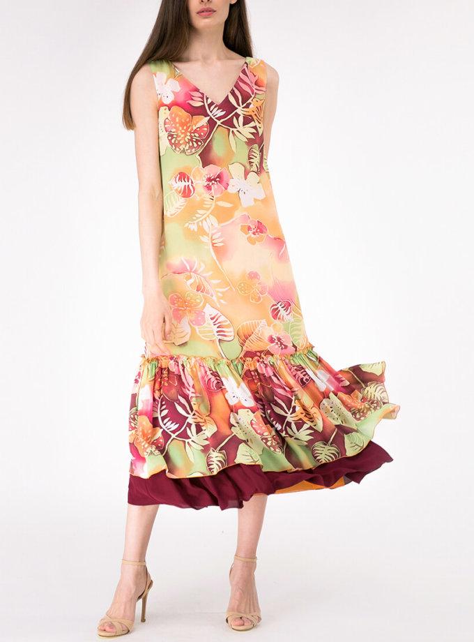 Платье с воланами на подкладе SHKO_17017004_outlet, фото 1 - в интернет магазине KAPSULA