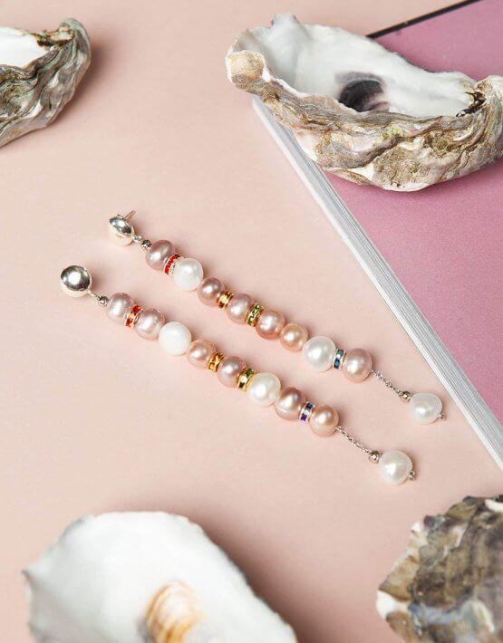 Серьги Chantal Gold с жемчугом SMKSH_chantal_gold, фото 4 - в интеренет магазине KAPSULA