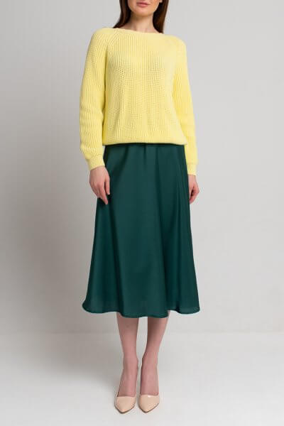 Легкая юбка миди SVST_ААВ-1-skirt-green, фото 1 - в интеренет магазине KAPSULA