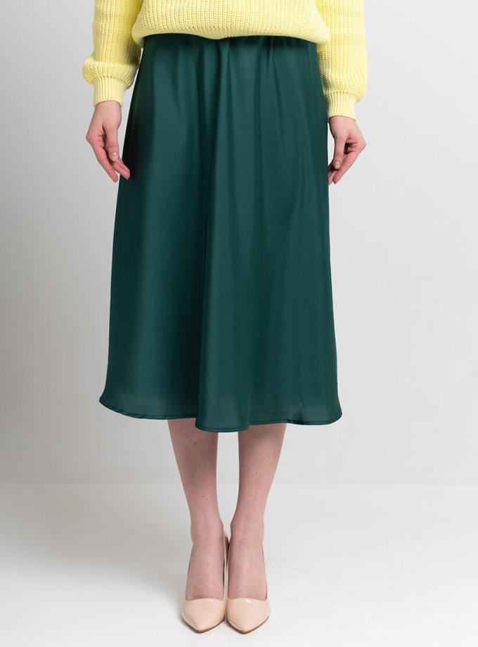Легкая юбка миди SVST_ААВ-1-skirt-green, фото 1 - в интернет магазине KAPSULA