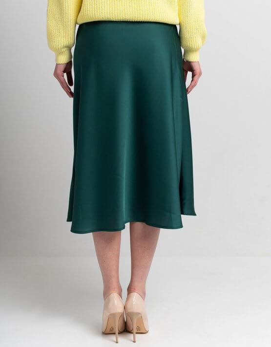 Легкая юбка миди SVST_ААВ-1-skirt-green, фото 5 - в интеренет магазине KAPSULA