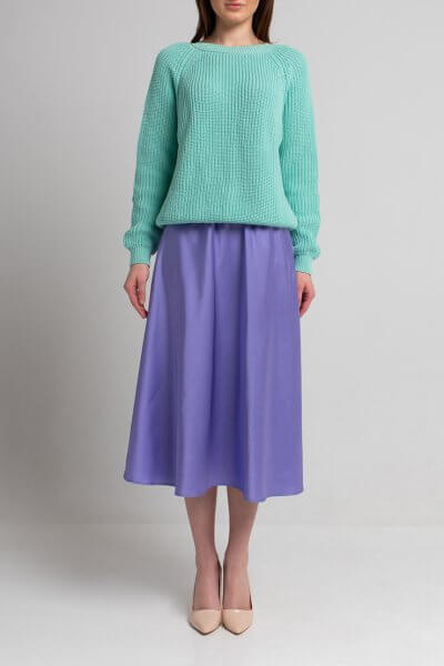Легкая юбка миди SVST_ААВ-1-skirt-lavanda, фото 1 - в интеренет магазине KAPSULA