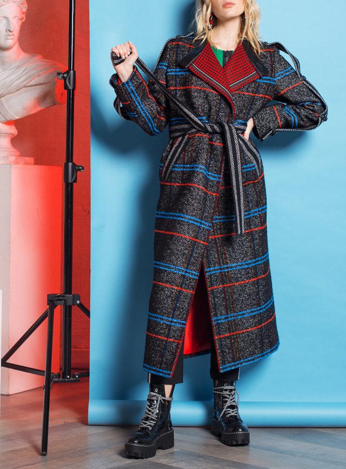 Пальто в клетку из шерсти TBC_068w_1326, фото 1 - в интеренет магазине KAPSULA