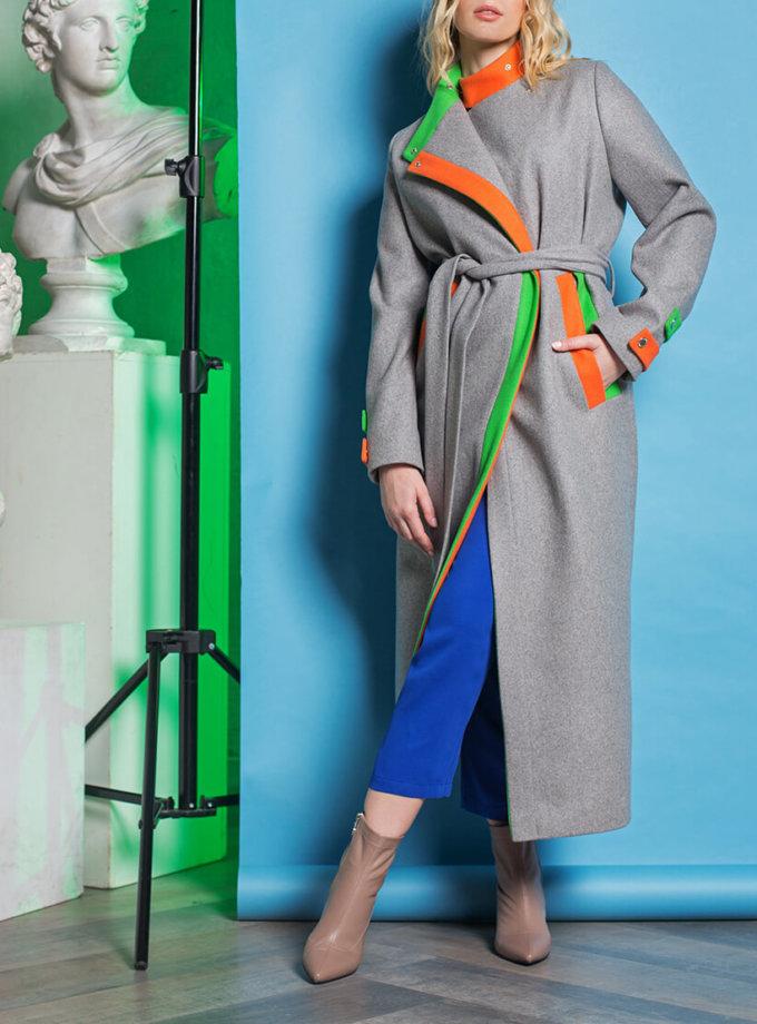 Пальто из шерсти с яркой отделкой TBC_071w_02017, фото 1 - в интеренет магазине KAPSULA