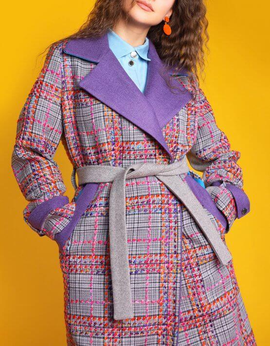 Пальто из тонкой шерсти с вышивкой TBC_073w_1919, фото 3 - в интеренет магазине KAPSULA