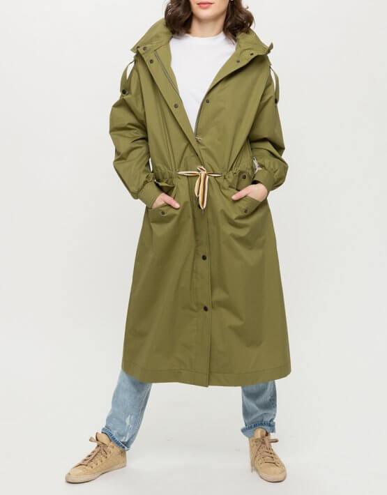 Хлопковый тренч с капюшоном TRC_LL64ATTVGA30, фото 7 - в интеренет магазине KAPSULA