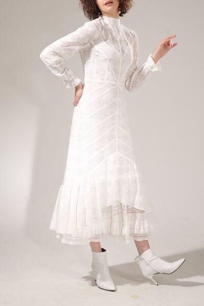 Асимметричное платье из хлопкового кружева VONA-SS-20-10, фото 1 - в интеренет магазине KAPSULA