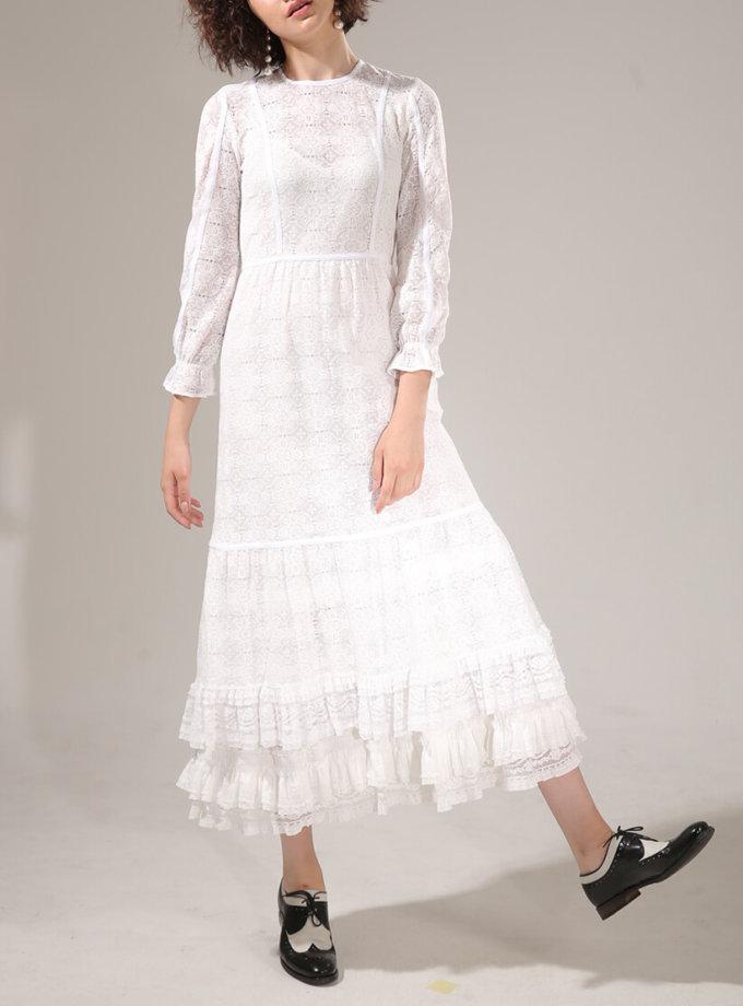 Хлопковое платье с кружева VONA-SS-20-11, фото 1 - в интернет магазине KAPSULA