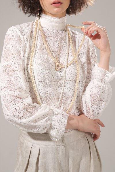 Блуза из кружева VONA-SS-20-13, фото 1 - в интеренет магазине KAPSULA