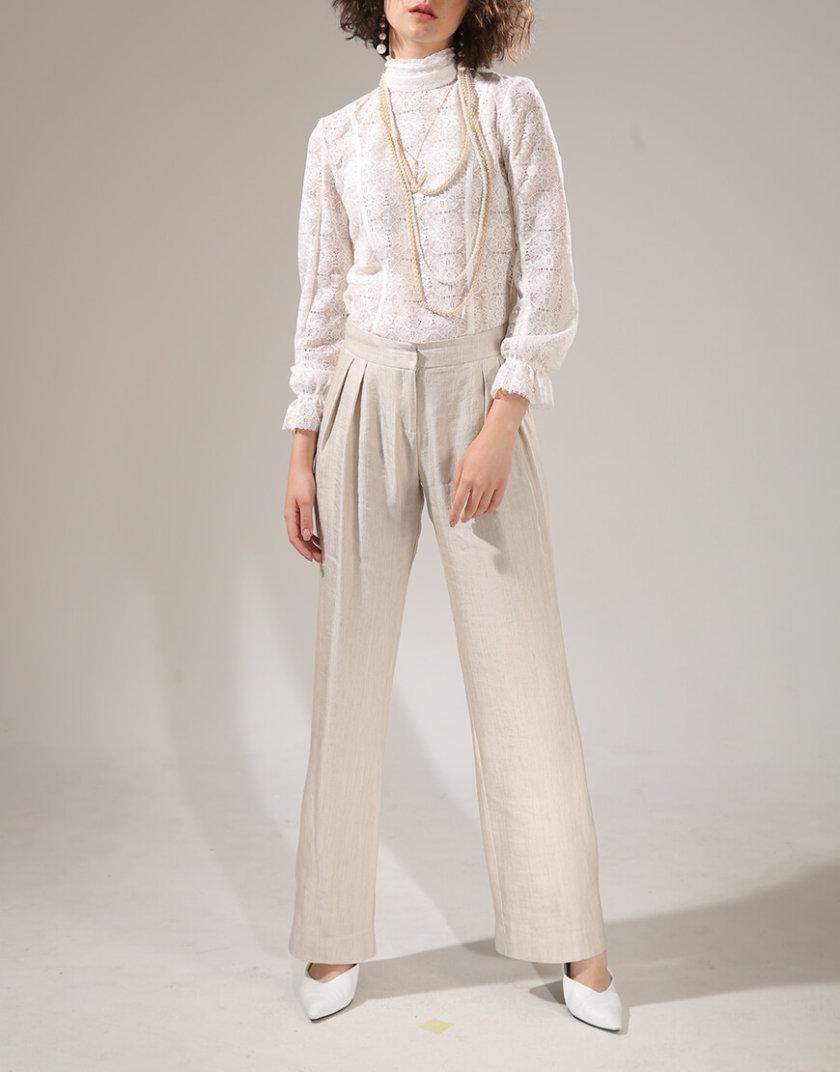 Широкие брюки с защипами VONA-SS-20-16, фото 1 - в интернет магазине KAPSULA