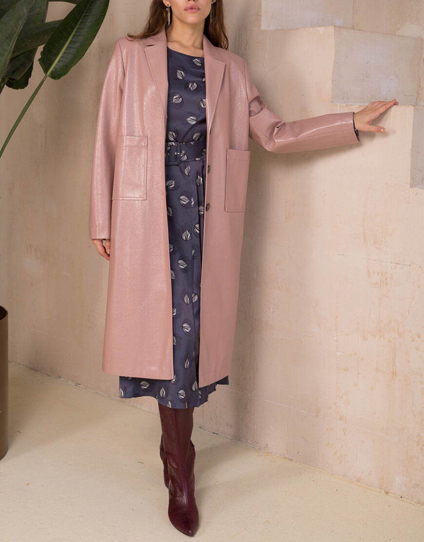 Пальто из эко-кожи на подкладе VONA-SS-20-25, фото 1 - в интернет магазине KAPSULA