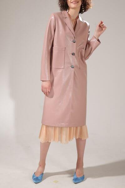 Пальто из эко-кожи на подкладе VONA-SS-20-25, фото 1 - в интеренет магазине KAPSULA