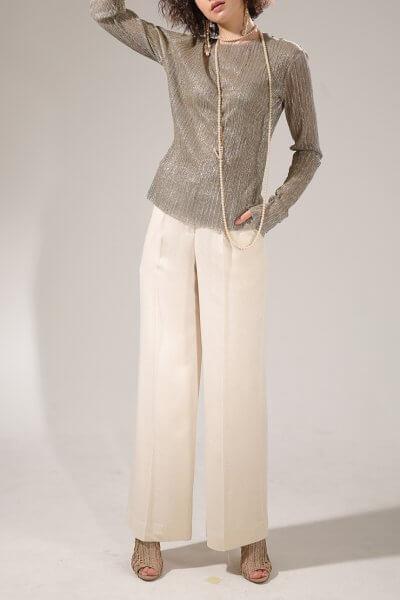 Широкие брюки с люрексом VONA-SS-20-27, фото 4 - в интеренет магазине KAPSULA
