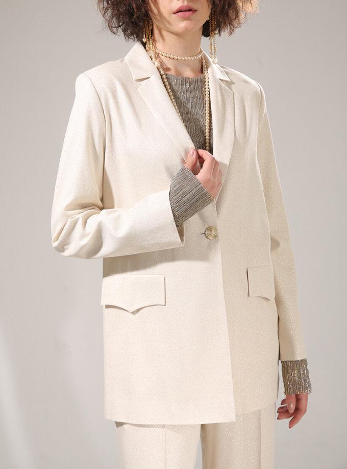Жакет с люрексом на подкладе VONA-SS-20-29, фото 1 - в интернет магазине KAPSULA