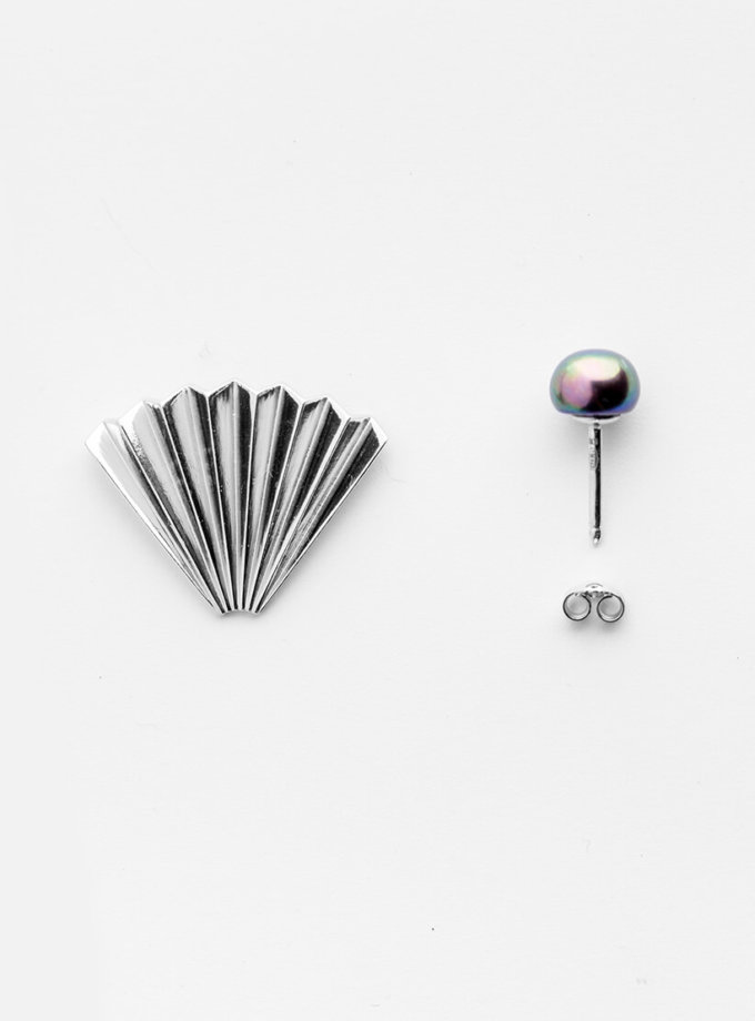 Асимметричные серьги Madagascar из серебра YSB_C-7019, фото 1 - в интеренет магазине KAPSULA