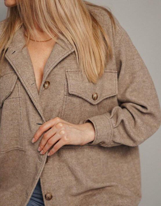 Рубашка из шерсти на подкладе NVL_SS2020_1, фото 4 - в интеренет магазине KAPSULA