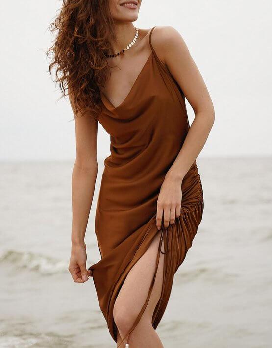 Платье на кулиске Muse MC_MY1620, фото 4 - в интеренет магазине KAPSULA