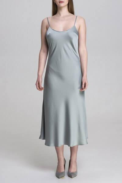 Шелковое платье миди AIR_DRS2002-g, фото 4 - в интеренет магазине KAPSULA