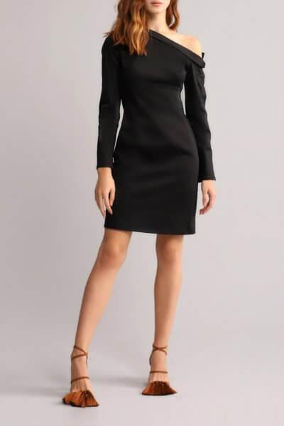 Платье футляр с открытым плечом BL_BL-18-014D, фото 8 - в интеренет магазине KAPSULA