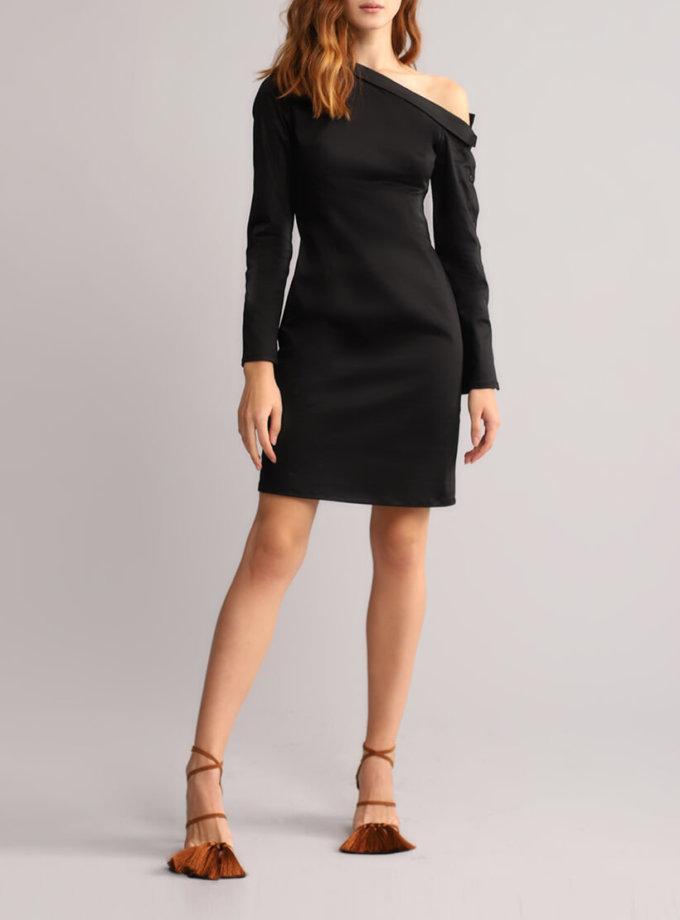 Платье футляр с открытым плечом BL_BL-18-014D, фото 1 - в интернет магазине KAPSULA