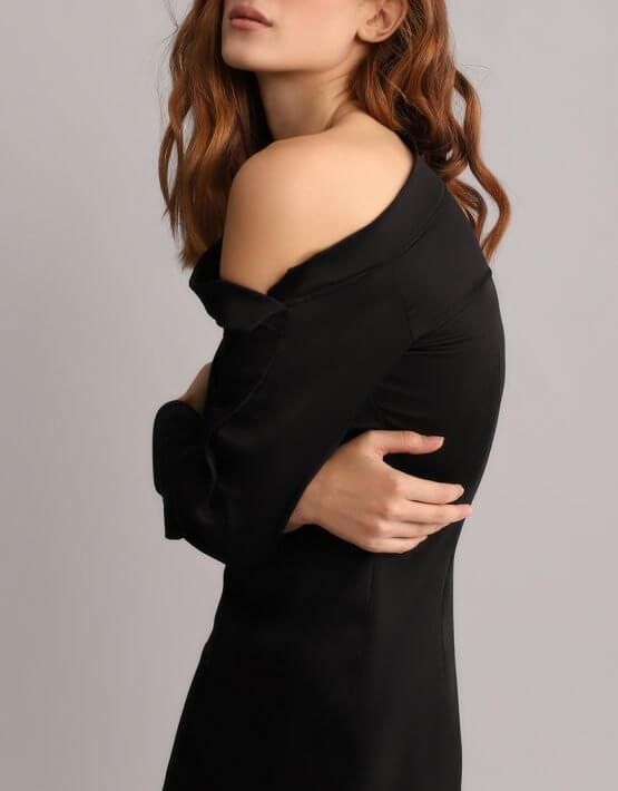 Платье футляр с открытым плечом BL_BL-18-014D, фото 6 - в интеренет магазине KAPSULA