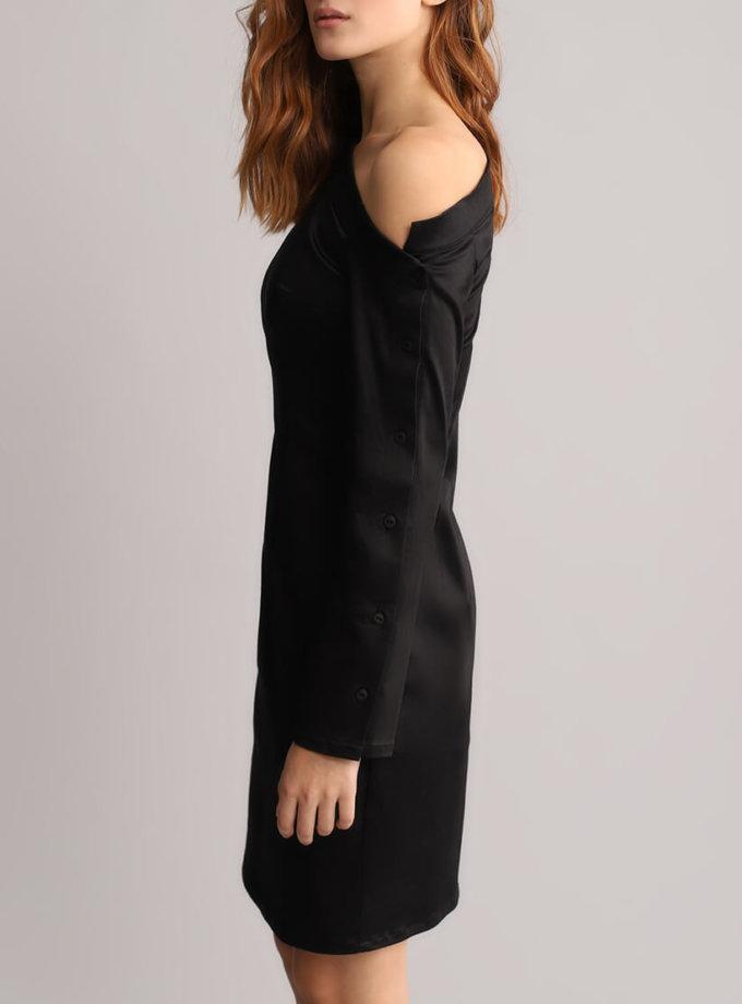 Платье футляр с открытым плечом BL_BL-18-014D, фото 1 - в интеренет магазине KAPSULA