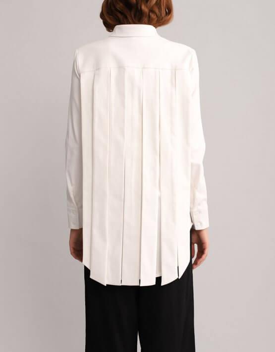Хлопковая рубашка с лентами BL_BL-19-001, фото 7 - в интеренет магазине KAPSULA