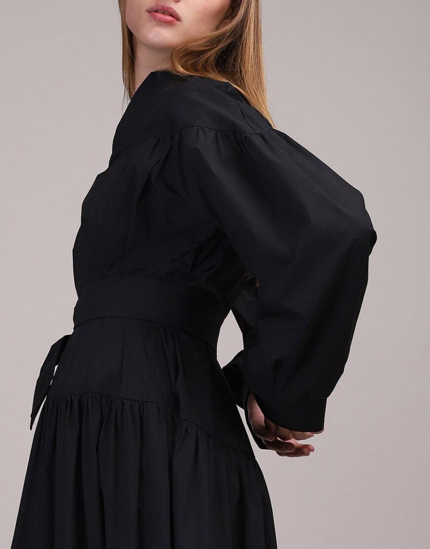 Платье свободного кроя с поясом BL_BL-19-037D, фото 1 - в интернет магазине KAPSULA