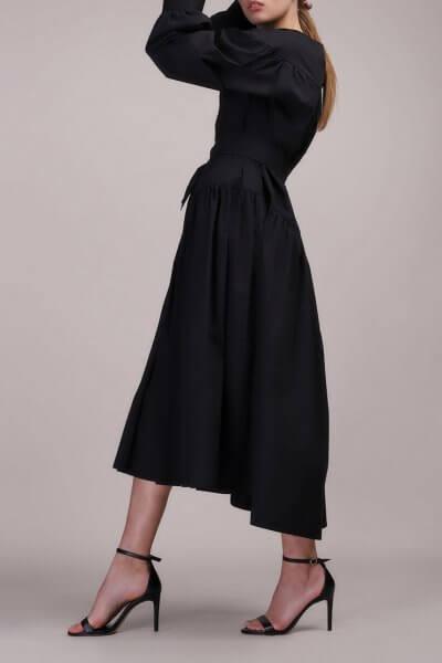 Платье свободного кроя с поясом BL_BL-19-037D, фото 1 - в интеренет магазине KAPSULA