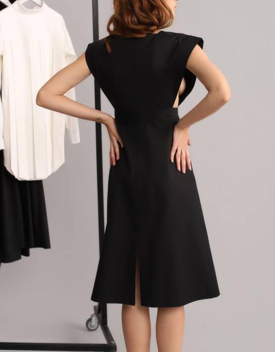 Платье трапеция без рукавов BL_BL-19-064, фото 5 - в интеренет магазине KAPSULA