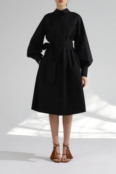 Платье рубашка из хлопка BL_PL-19-084, фото 1 - в интеренет магазине KAPSULA
