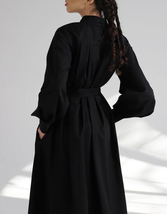 Платье рубашка из хлопка BL_PL-19-084, фото 5 - в интеренет магазине KAPSULA