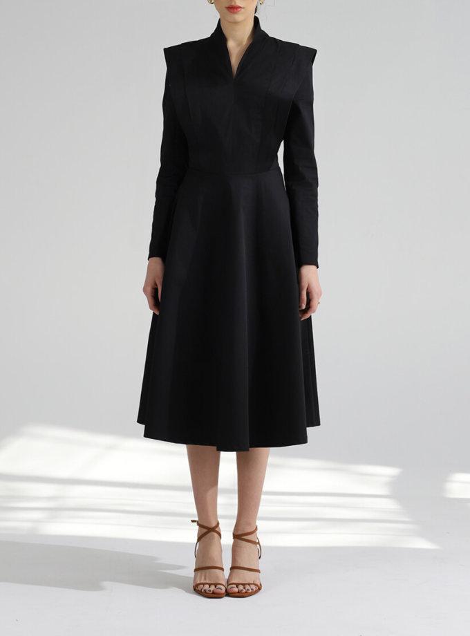 Геометрическое платье из хлопка BL_PL-19-085, фото 1 - в интернет магазине KAPSULA
