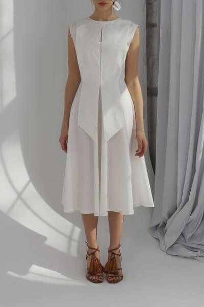 Платье миди из хлопка BL_PL-20-010, фото 1 - в интеренет магазине KAPSULA