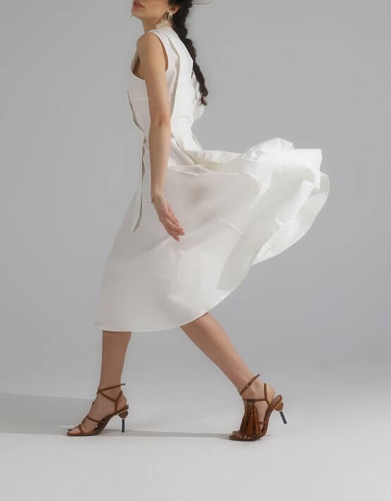 Платье миди из хлопка BL_PL-20-010, фото 5 - в интеренет магазине KAPSULA