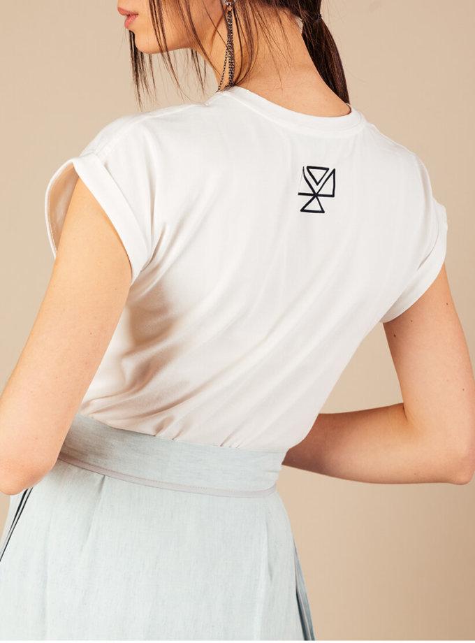 Футболка из хлопка MMT_T-shirt_white, фото 1 - в интеренет магазине KAPSULA