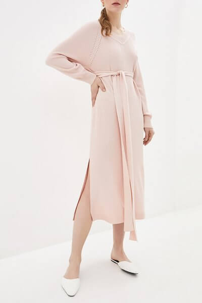 Платье миди с поясом KNIT_MP002XW0S95F, фото 1 - в интеренет магазине KAPSULA