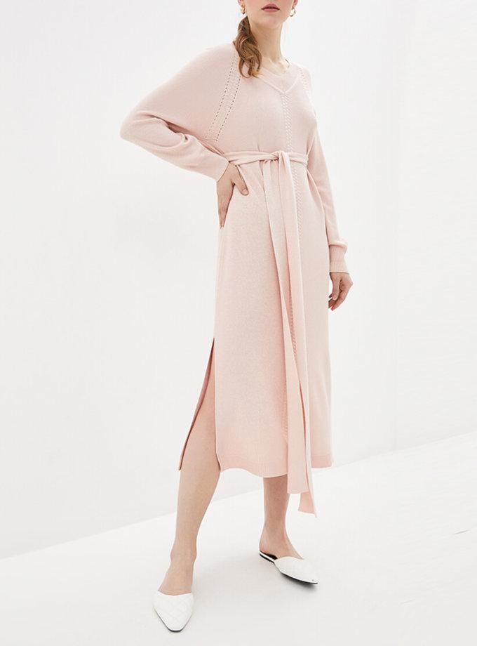 Платье миди с поясом KNIT_MP002XW0S95F, фото 1 - в интернет магазине KAPSULA