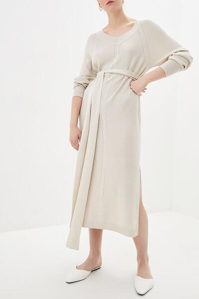Платье миди с поясом KNIT_MP002XW0S95H, фото 5 - в интеренет магазине KAPSULA