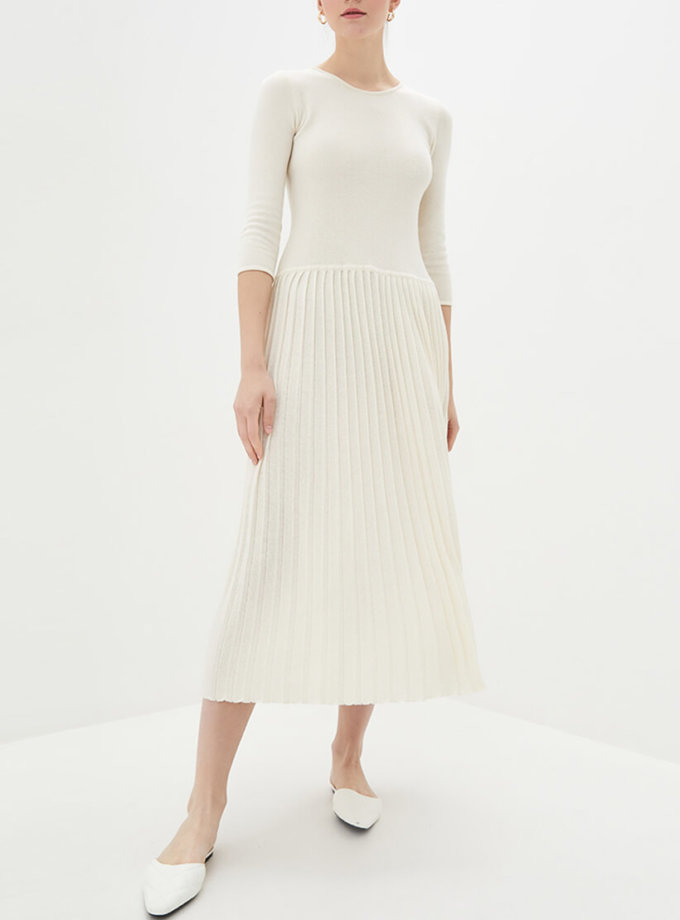 Хлопковое платье плиссе KNIT_MP002XW0S95J, фото 1 - в интеренет магазине KAPSULA