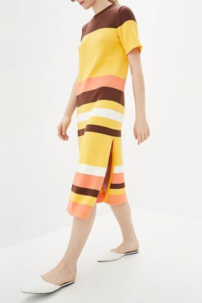 Платье с разрезами из хлопка KNIT_MP002XW0S95N, фото 1 - в интеренет магазине KAPSULA