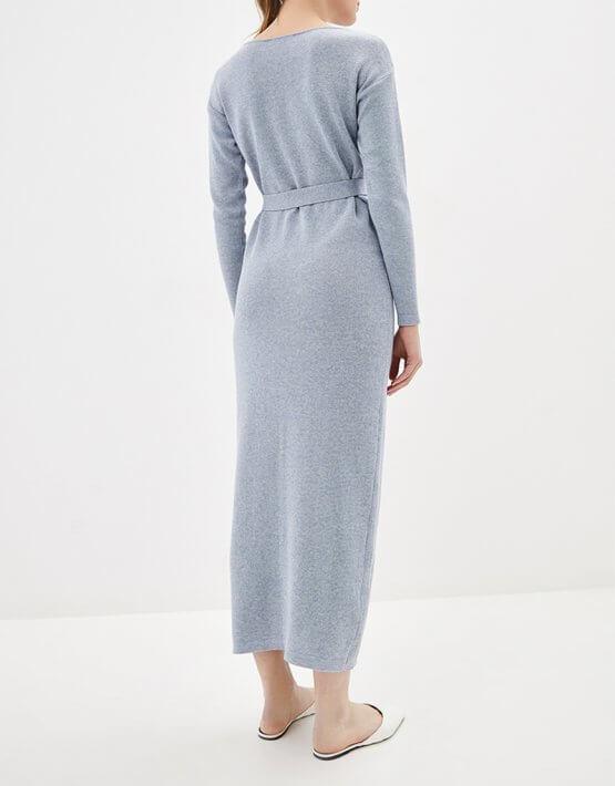 Платье миди с поясом KNIT_MP002XW0S95O, фото 4 - в интеренет магазине KAPSULA