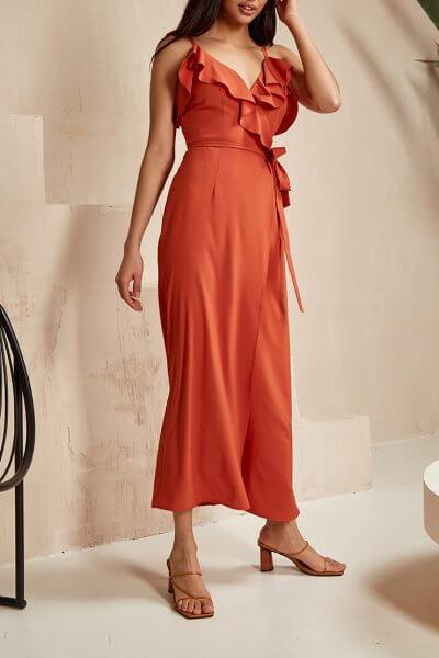 Платье на запах Leya MC_MY0420, фото 1 - в интеренет магазине KAPSULA