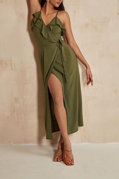 Платье на запах Leya MC_MY0520, фото 4 - в интеренет магазине KAPSULA